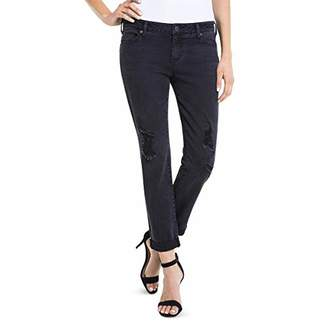 Liverpool Jeans Company Women's Peyton Slim Boyfriend with Destruct in Soft Stretch Denim