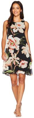 Karen Kane Sheer Floral Dress Women's Dress