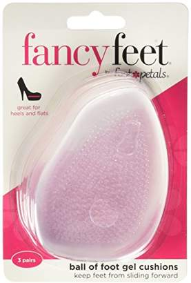 Foot Petals Fancy Feet Women's Ball of Foot Cushions 3 Pairs
