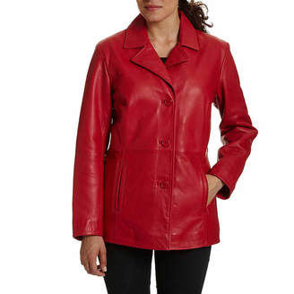 JCPenney Excelled Leather Excelled Button-Front Jacket