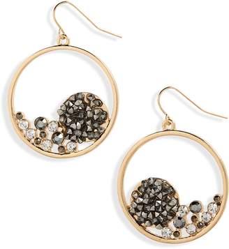 Natasha Crystal Hoop Earrings