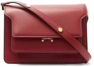 Marni Trunk Medium Leather Shoulder Bag - Womens - Burgundy