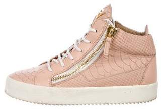 Giuseppe Zanotti Leather Embossed Sneakers