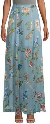 Alice + Olivia Women's Athena Floral Maxi Skirt