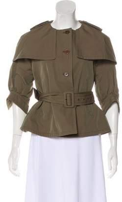Miu Miu Half-Sleeve Button-Up Jacket