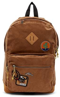 Steve Madden Patched Corduroy Backpack