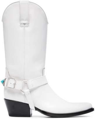 Calvin Klein White Tex Tammy 50 Leather Boots
