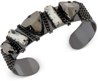 INC International Concepts M. Haskell for I.n.c. Crystal Chain Cuff Bracelet, Created for Macy's