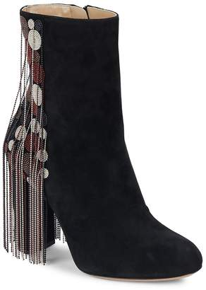 Chloé Women's Liv Fringed Suede Booties