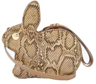 Hillier Bartley - Bunny Python Print Leather Bag - Womens - Tan Multi