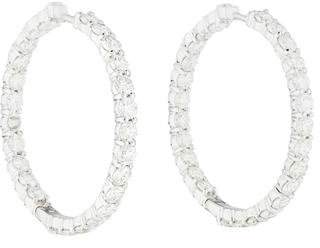 Roberto Coin 18K Diamond Inside-Out Hoop Earrings