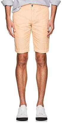 Pt01 Men's Linen-Cotton Bermuda Shorts - Orange
