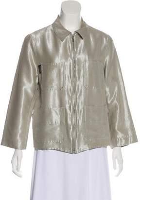 Chanel Metallic Zip-Up Jacket