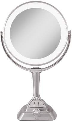 Zadro 10x Magnification Next Generation Led Round Double Sided Satin Nickel Mirror