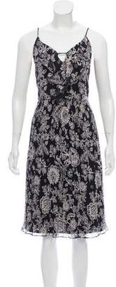 Ella Moss Pleated Print Dress w/ Tags