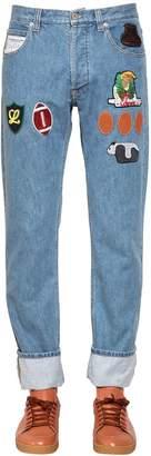Loewe Patch Cotton Denim Jeans