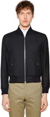 Thom Browne Zip-Up Wool Twill Bomber Jacket