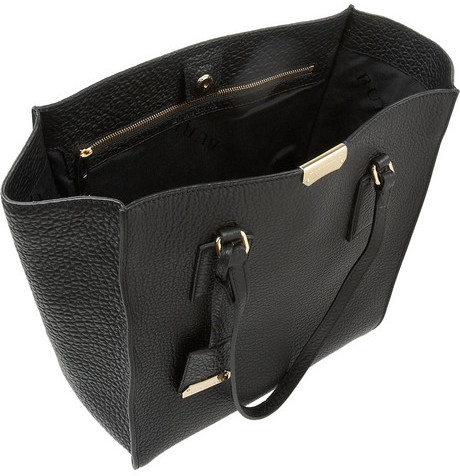 Burberry Shoes & Accessories Textured-leather trapeze tote