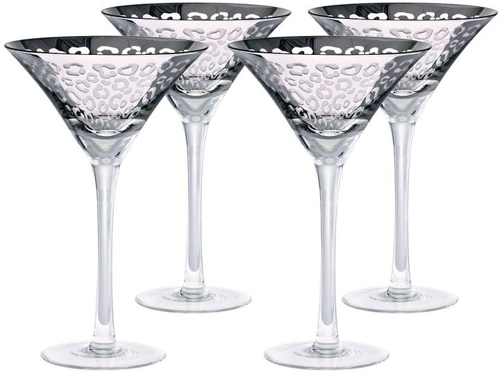 Artland Artland Leopard 4-pc. Martini Glass Set