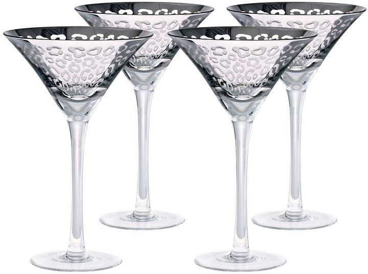 ArtlandArtland Leopard 4-pc. Martini Glass Set