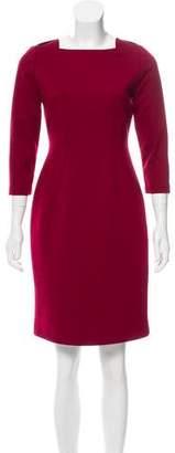 Tahari Elie Long Sleeve Mini Dress