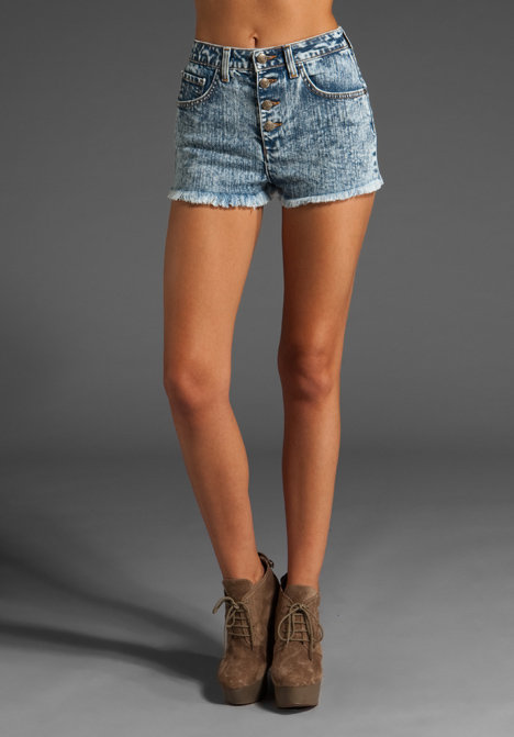 Wildfox Couture Ripped Heather High Waist Short