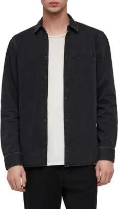 AllSaints Brenner Denim Slim Fit Sport Shirt