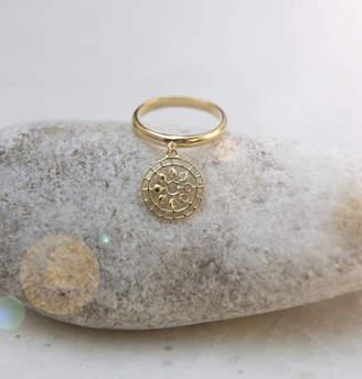 Wanderlust Puck Moon Mandala Charm Ring