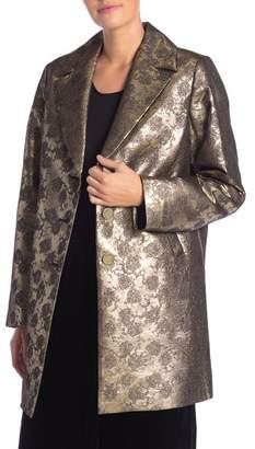 Frame Jacquard Coat