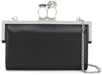 Alexander McQueen double-ring clutch