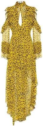 Diane von Furstenberg Heyford leopard silk maxi dress