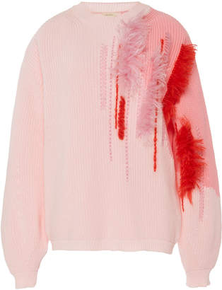 DELPOZO Embroidered Cotton Sweater