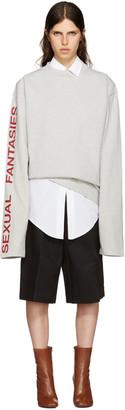 Vetements Grey 'Sexual Fantasies' T-Shirt $1,075 thestylecure.com