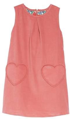 Boden Mini Heart Pocket Corduroy Pinafore Dress
