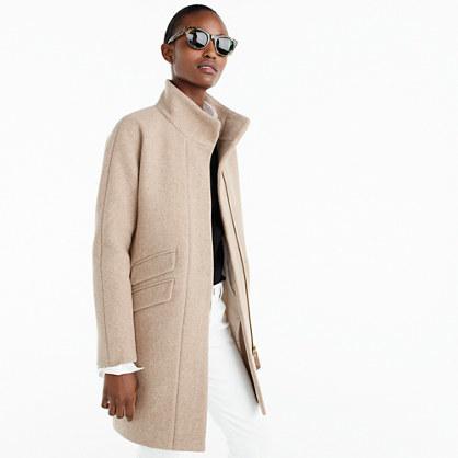 Cocoon coat in Italian stadium-cloth wool