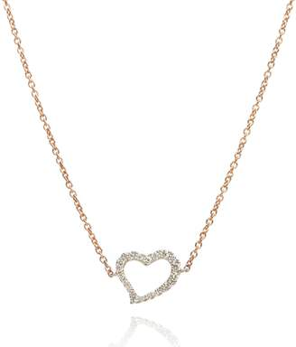 Annoushka Rose Gold and White Gold Love Diamonds Heart Necklace