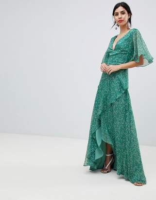 Keepsake floral maxi tea dress