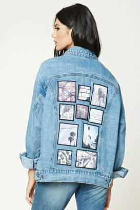 FOREVER 21+ Oversized Patch Denim Jacket $34.90 thestylecure.com
