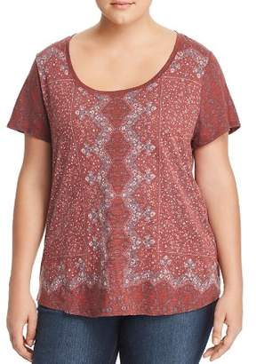 Lucky Brand Plus Printed Tee