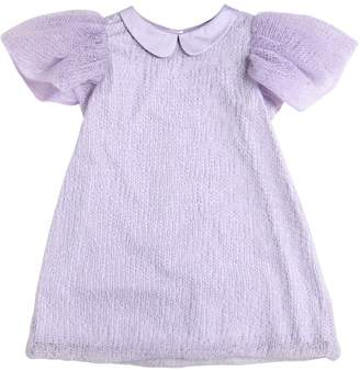 Nikolia Hand-Knitted Mohair Satin Dress