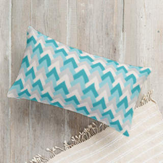 Deco Chevron Self-Launch Lumbar Pillows