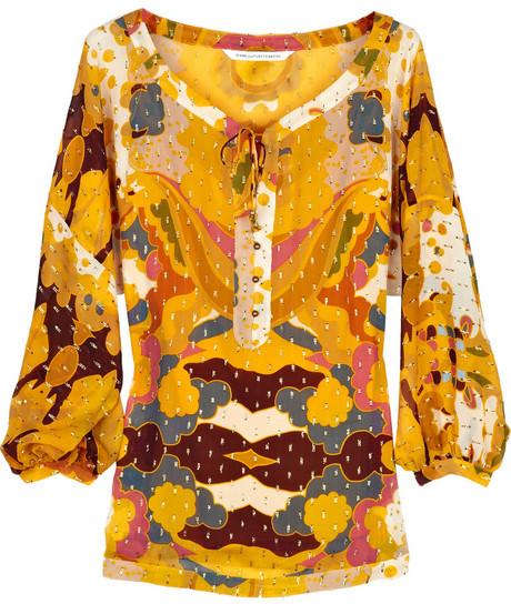 Diane von Furstenberg Multicolored silk blouse