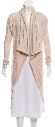 Haute Hippie Wool Cable-Knit Metallic Open Front Cardigan w/ Tags