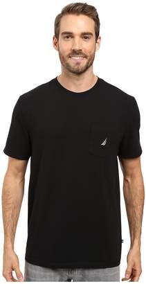 Nautica Short Sleeve Solid Anchor Pocket Tee Men's T Shirt