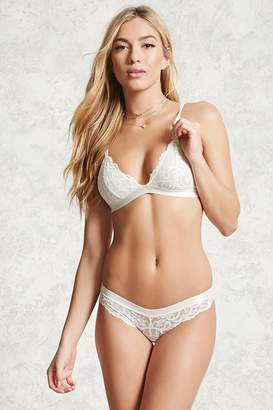 Forever 21 Semi-Sheer Lace Cheeky Panty