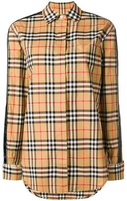 Burberry vintage check stripe shirt