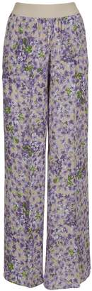 Twin-Set Twinset Floral Print Flared Trousers