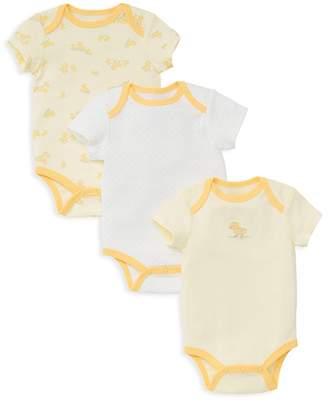 Little Me Unisex Little Ducks Bodysuit, 3 Pack - Baby