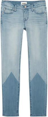 Hudson Laser Two-Tone Skinny Jeans, Size 7-16