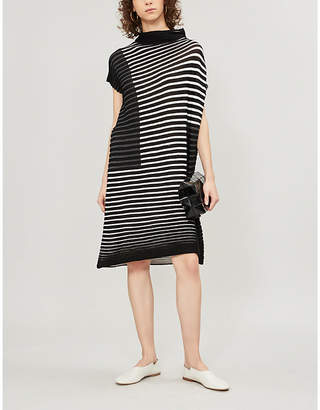 Pleats Please Issey Miyake Chira-Chira wool-blend dress
